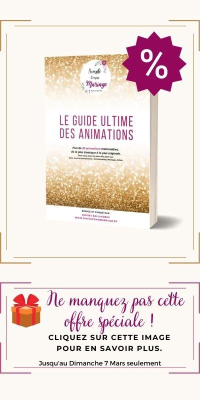 offre spéciale guide des animations