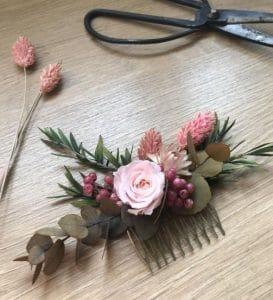 Peigne fleurs stabilisées 2