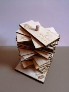 livre d'or original en bois